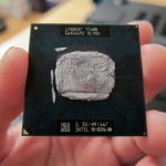 Dirty Intel T7600 processor
